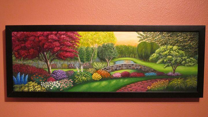 Paradise Garden (Framed) - Oleg Litvak