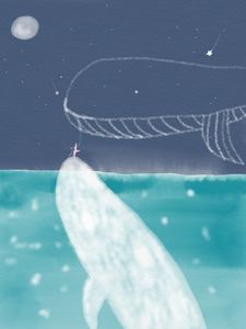 Whales and star