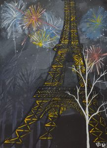 Eiffel Tower at night - S Aguirre