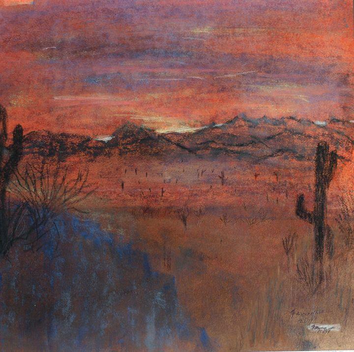 Superstion Sunset - Farrugia Art