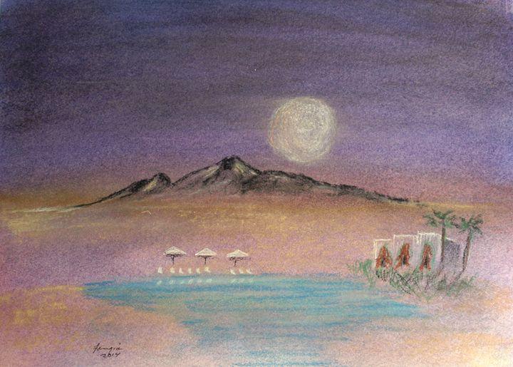 Honey Moon Over Camelback - Farrugia Art