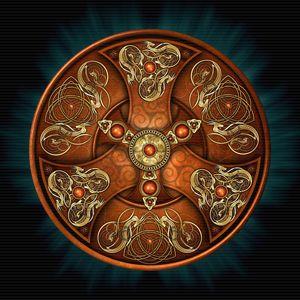 Copper Norse Chieftain's Shield - Naumaddic Arts