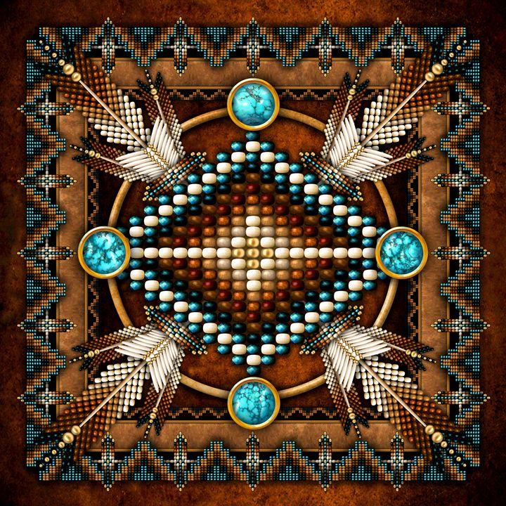 Native American Medicine Wheel Cross - Naumaddic Arts