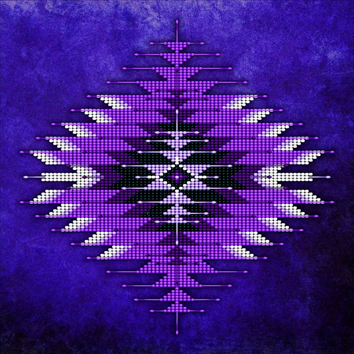 Native American Bead Peyote Tapestry - Naumaddic Arts