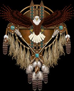 Bald Eagle Native American Mandala