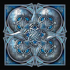 Blue Celtic Hearts Tapestry - Naumaddic Arts