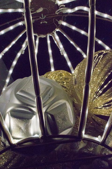 Gold and Silver Christmas Closeup - David J Riffey