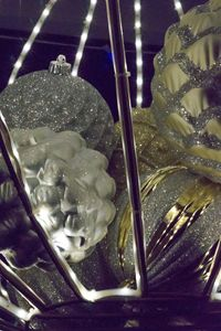 Gold and Silver Christmas Closeup