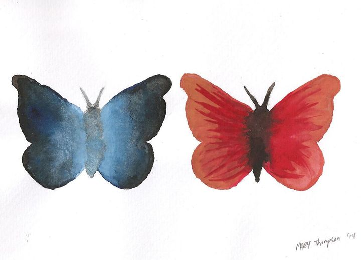 Two Butterflies - Mary's Gallery