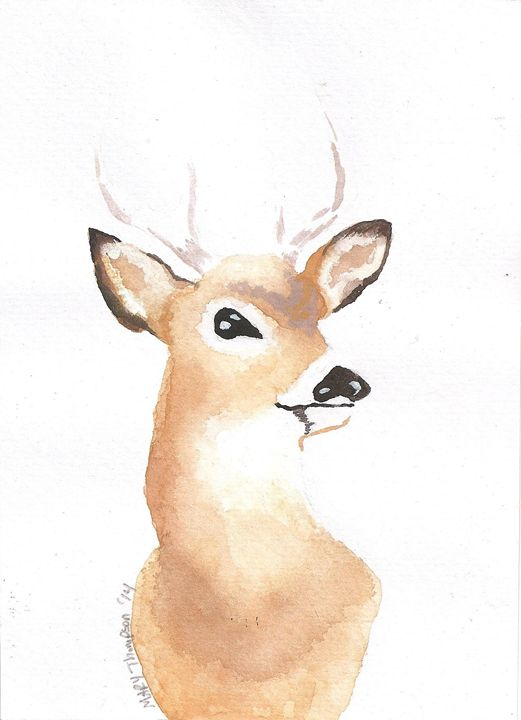 Son buck painting - Mary's Gallery