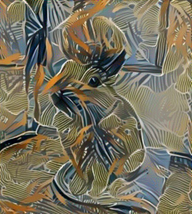 Rabbit in the foliage - Alex Ovechkina