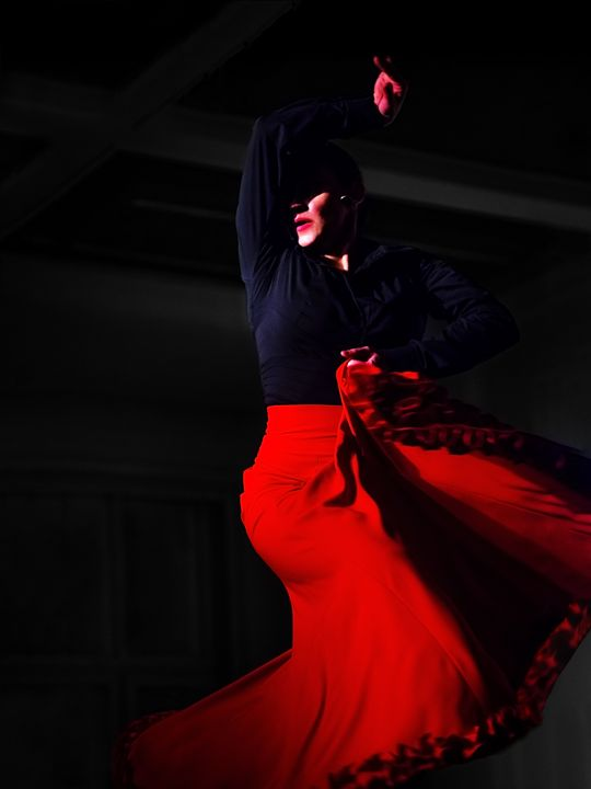 Marta in a red skirt. - Elzbieta Petryka
