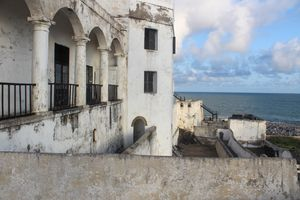 Cape Coast Castle on the water