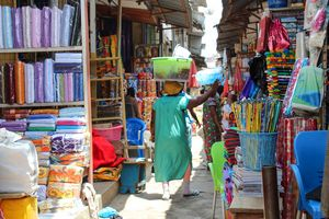 Shoppers at Kejetia Market