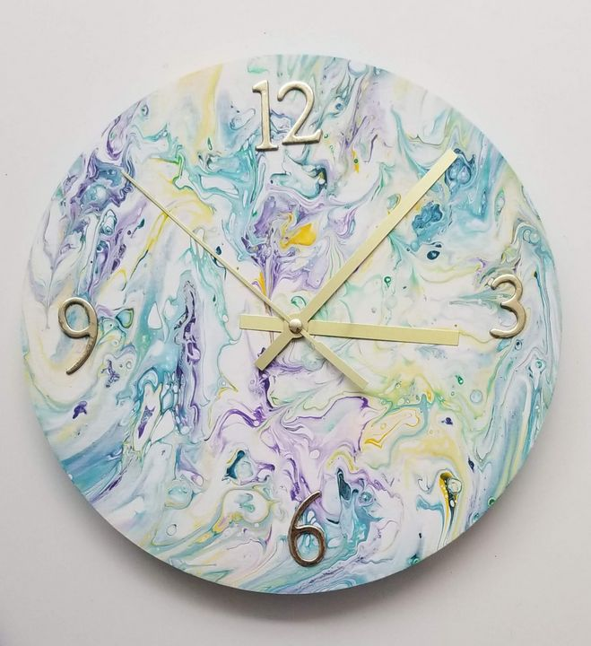 Art Clock - Pouring My Heart Out