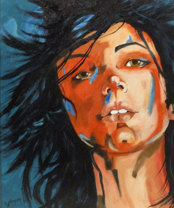 Wind Blown - Inspired Art by K