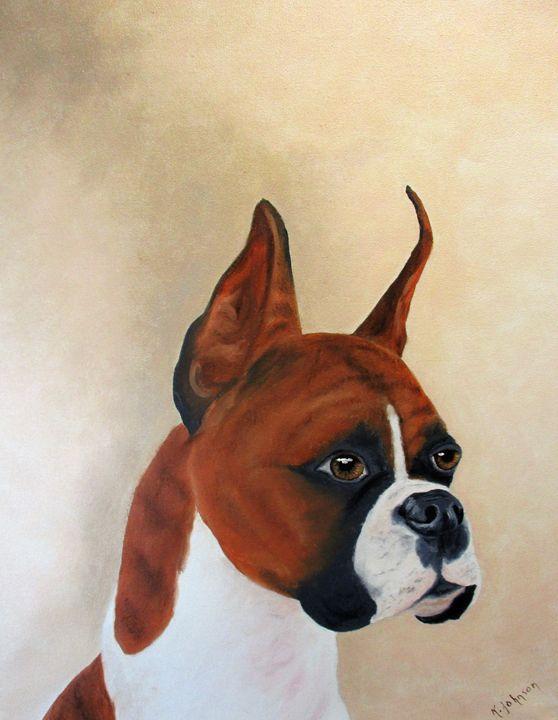Boxer Miles - Inspired Art by K