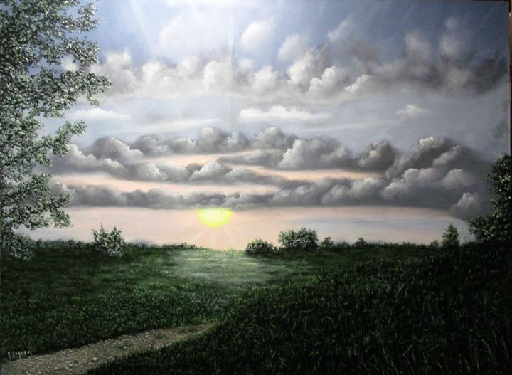 Countryside Sunset - Inspired Art by K