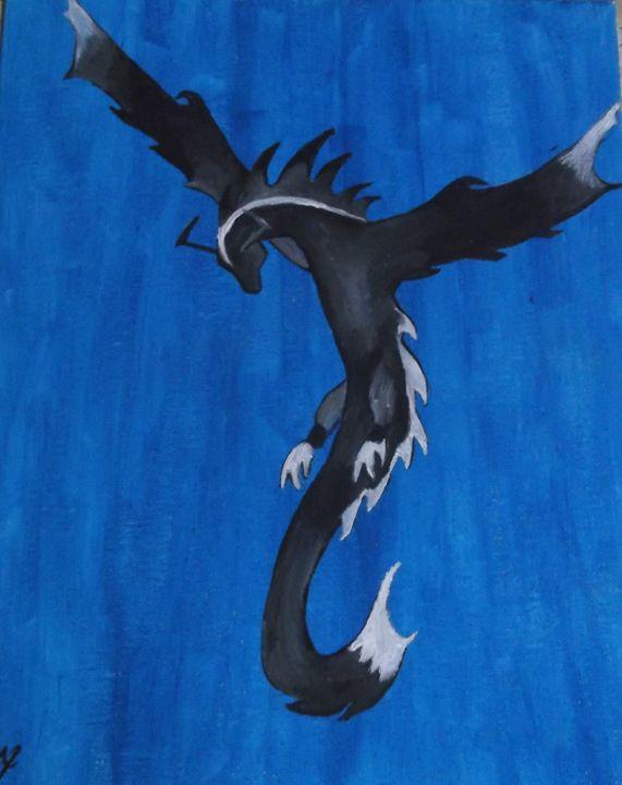 Dragon in blue - Bhean Spiorad Art