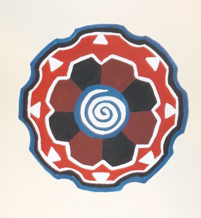 Mandala, Red and Blue - Bhean Spiorad Art