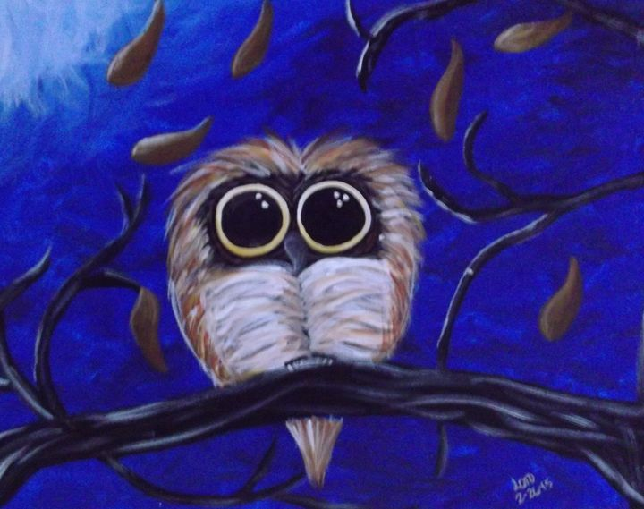 Owl-fully good night - Bhean Spiorad Art