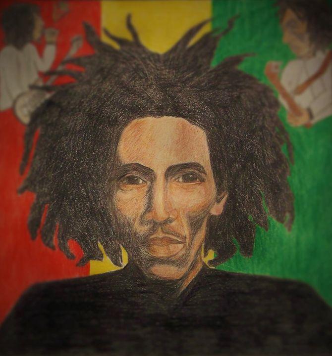 In the Spirit with Bob Marley - Bhean Spiorad Art
