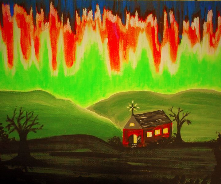 In the Spirit with the Northern Ligh - Bhean Spiorad Art