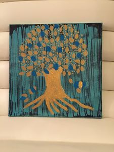 Tree of life theme on canvas