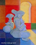 20.5x25.5 inch acrylic abstract