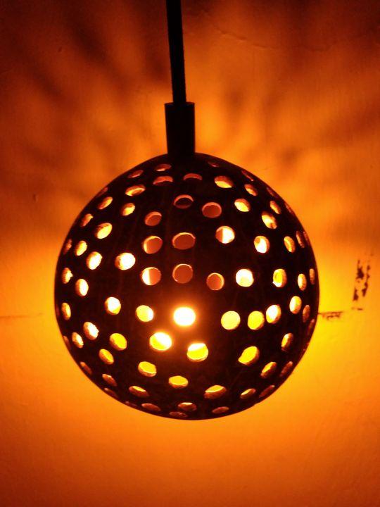 Coconut Hanging Lamp OFFER - Coconut art