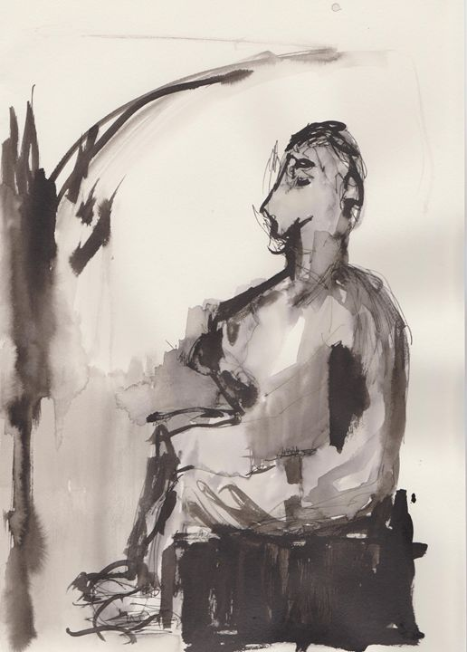 Seated Figure - Charlotte Daisy Fine Art