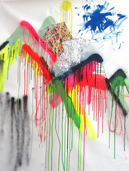 landscape with colors 2014 102x77 sp - Serena Rossi's contemporary art