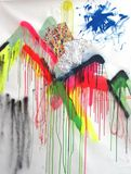 spray and collage 102x77 cm 2014