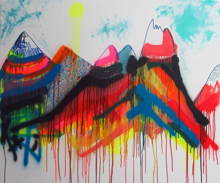 Colors With Land - Serena Rossi's contemporary art