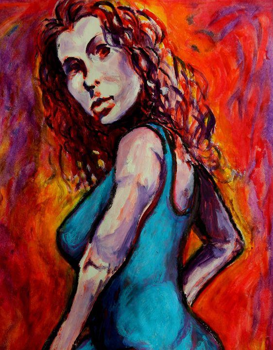 Woman in Blue Dress - Greg Thweatt