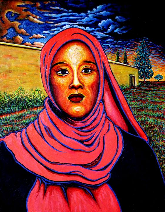 Jeune femme et mur jaune - Greg Thweatt