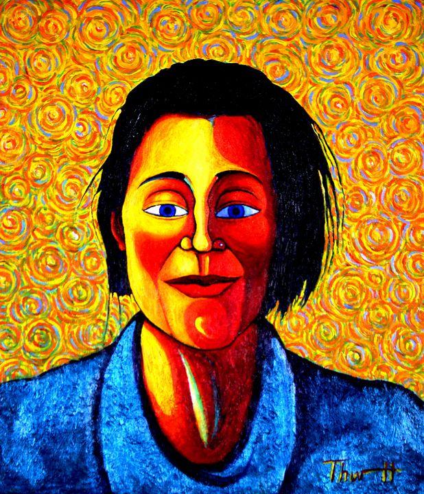 Woman With Turquoise Dress - Greg Thweatt