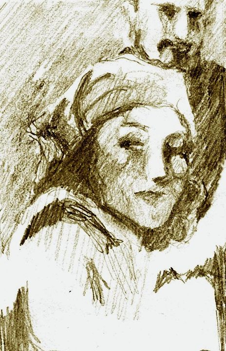 Woman with Scarf - Greg Thweatt