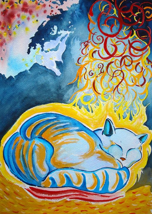 Cat Dreaming - Greg Thweatt