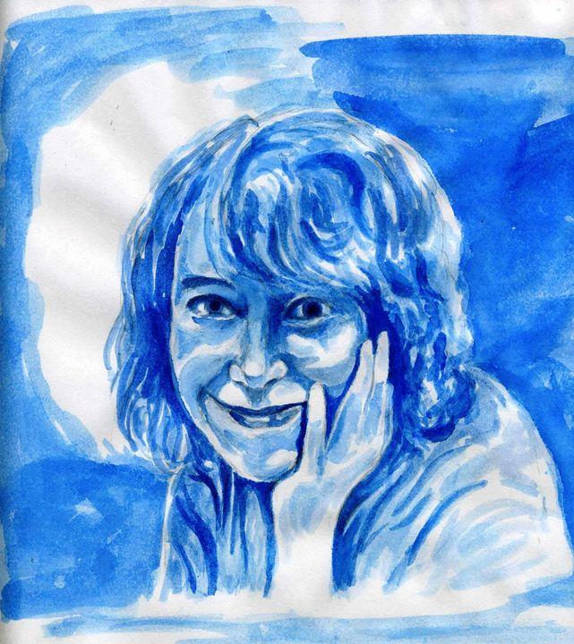 Connie in Blue - Greg Thweatt