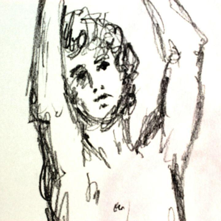 Arms Raised Sketch - Greg Thweatt