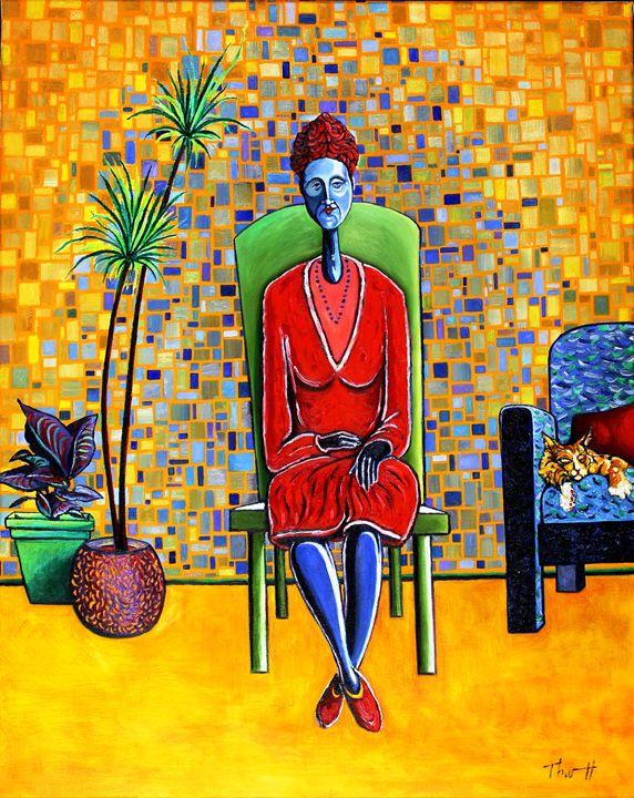 Blue Women in Red - Greg Thweatt
