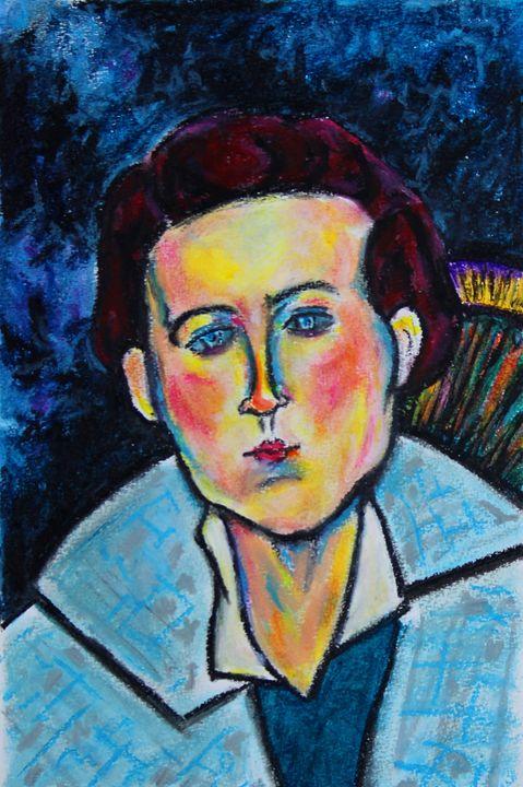 Woman With Blue and Gray Coat - Greg Thweatt