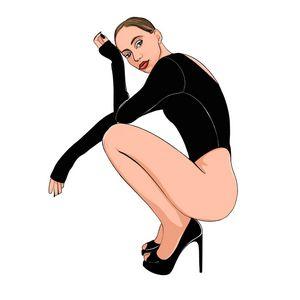 Girl in high heels.