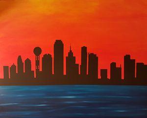 Dallas Skyline - John Wesley Van Horn