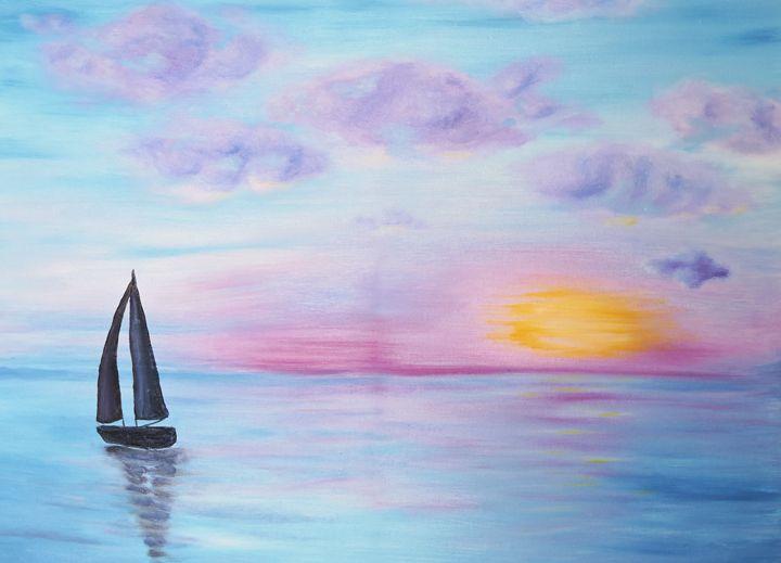 Misty Morning Sail - Nicole Burnett