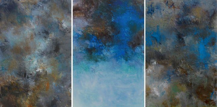 midnite sky I II III - Ron Halfant's Paintings