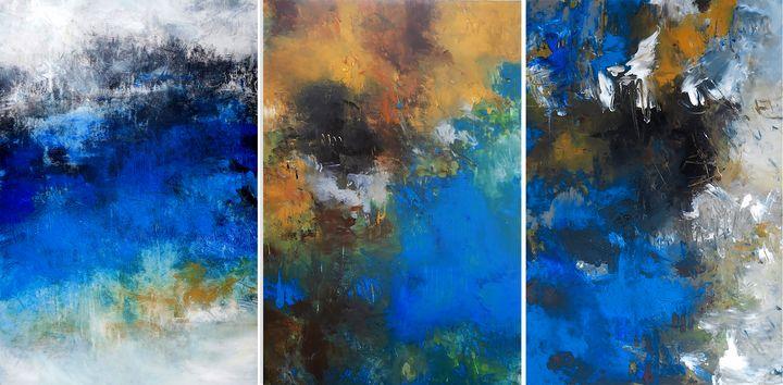 Waterfalls 3 - Ron Halfant's Paintings