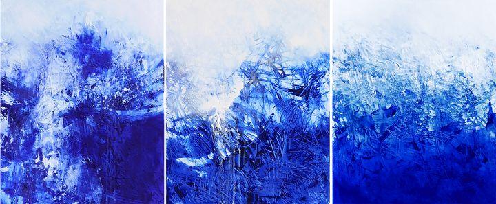 Blu Web I&II&III - Ron Halfant's Paintings