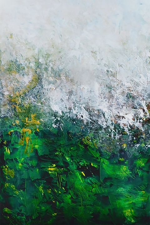 amongst the greens 24x36 - Ron Halfant's Paintings